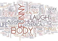 The Power Of Laughter Text Background  Word Cloud Concept Royalty Free Stock Image