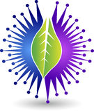 Power leaf logo Royalty Free Stock Photography