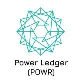 Power Ledger POWR. Vector illustration crypto c. Vector illustration crypto coin icon on isolated white background Power Ledger POWR. Name of the crypto currency Stock Photos