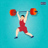 Power Lifter, Vector Illustration Stock Photo