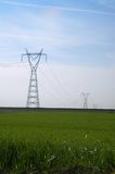 Power line. Energy Stock Image