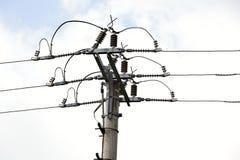 Power Line. Power electric distribution Stock Photo