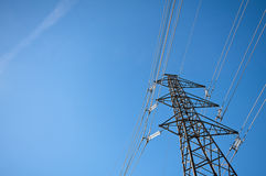 Power line. Against a blue sky Stock Photography