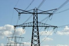 Power line. Energy Royalty Free Stock Photo
