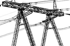 Power line. Equipment of power line industry Stock Photography