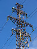 Power line. High power line on blue sky Stock Photography