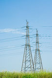 Power line. Pylon in a serene day Stock Image