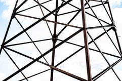 Power line against the  sky Royalty Free Stock Photography