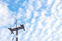 Power line. Royalty Free Stock Image