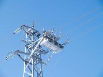 Power line circuit breaker Royalty Free Stock Photos