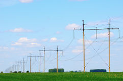 Power line Royalty Free Stock Photos