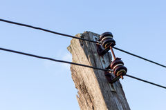 Power line conductor Stock Photos