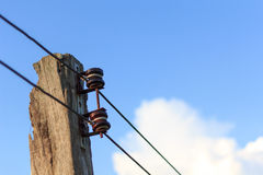 Power line conductor Royalty Free Stock Photos