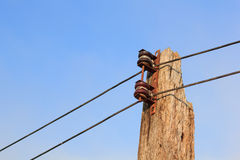 Power line conductor Royalty Free Stock Images