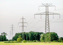 Power line in distance. Stock Photography
