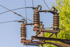 Power line elements, selective stock photography