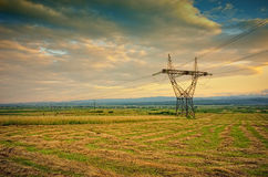 Power line tower #1 Royalty Free Stock Images