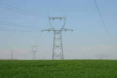 Power line in France Royalty Free Stock Photos