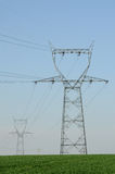 Power line in France Stock Photography