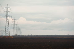 Power line grid Royalty Free Stock Photo