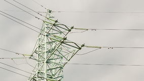 Power line stock footage