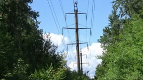Power line stock video