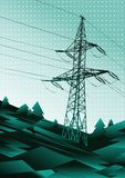 Power line illustration Royalty Free Stock Photography