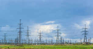 Power Line In The Countryside Royalty Free Stock Photo