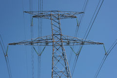 Power line isolated Royalty Free Stock Photos