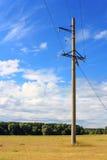 Power line landscape Stock Photo