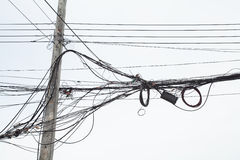 Power Line. S in the city Stock Images