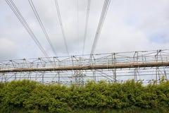 Power line maintenance Stock Image