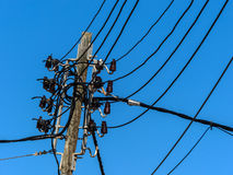 Power line on mallorca Stock Photo