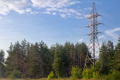 Power line in nature Stock Image