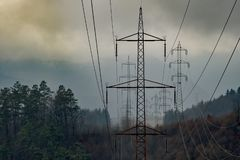 POWER line in nature royalty free stock image