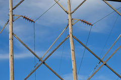 Power Line Pattern royalty free stock image