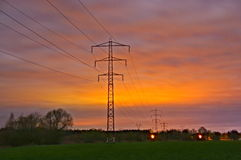 Power line. Stock Photo