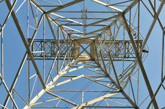 Power line pole Royalty Free Stock Images
