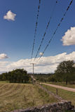 Power line pole Royalty Free Stock Photos