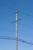 Power Line Pole Royalty Free Stock Photography