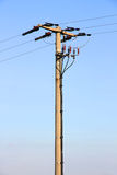 Power line post Stock Image