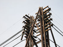 Power Line, power electric distribution. Outdoor stock photos