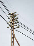Power Line, power electric distribution. Outdoor stock images