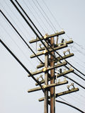 Power Line, power electric distribution. Outdoor stock photography