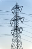 Power line: a pylon Royalty Free Stock Images