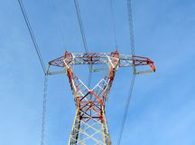 Power line pylon Royalty Free Stock Images