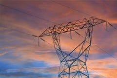 Power line pylon Royalty Free Stock Photos