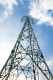 Power line pylon against the sky. Royalty Free Stock Photos