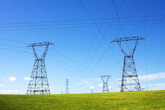 Power line pylons Stock Image