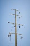 Power line repair Royalty Free Stock Photo